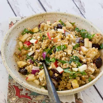 Cinnamon Apple Quinoa Salad