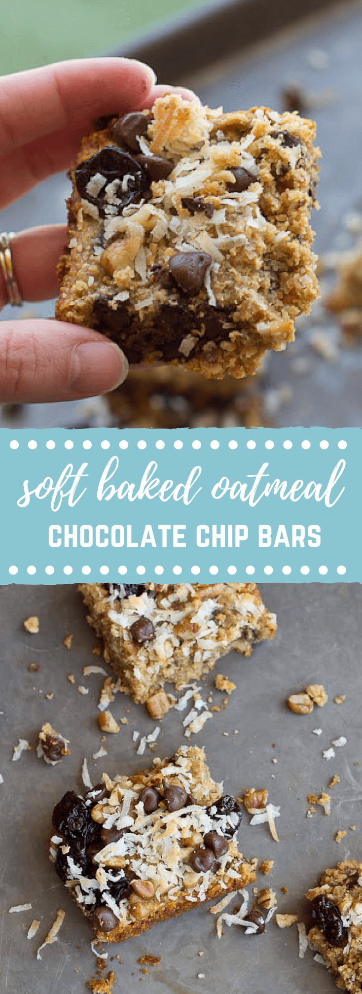 Soft Baked Oatmeal Chocolate Chip Bars | love & zest
