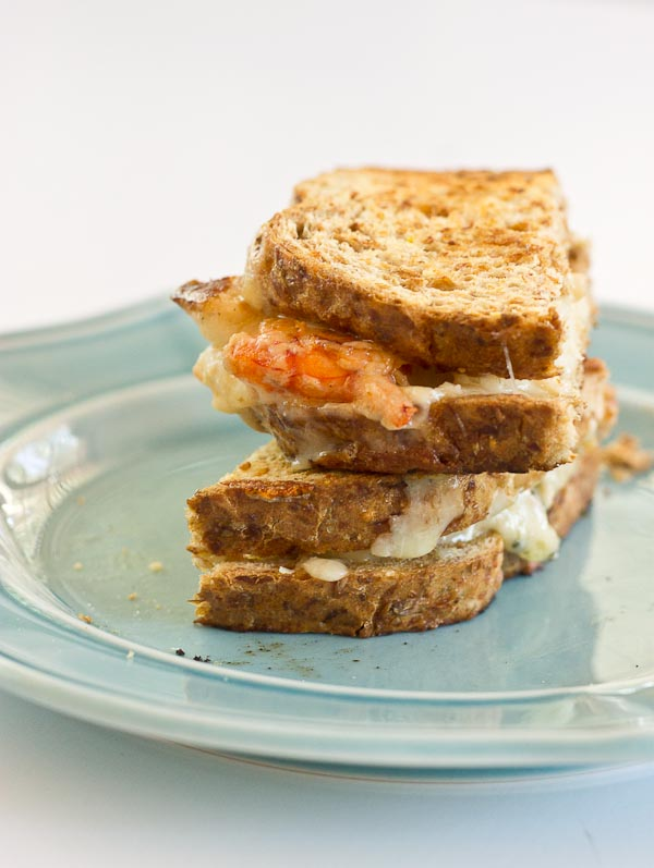 This Shrimp Grilled Cheese doesn't hold anything back-- melted cheddar cheese, buttered toast, and large grilled shrimp. Let loose, unwind and savor this comfort food any night of the week.