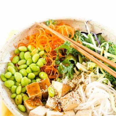Asian Rice Noodle Bowl