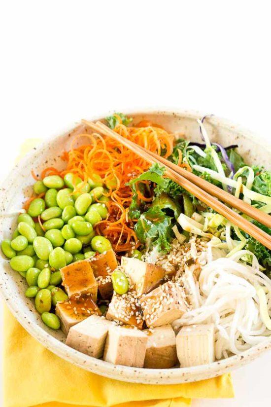 asian rice noodle bowl  love  zest