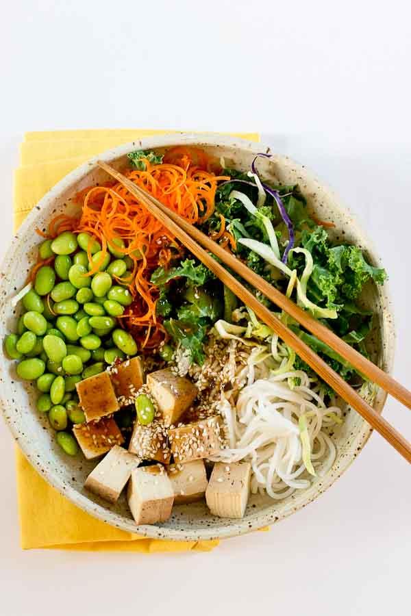 Asian Rice Noodle Bowl Love Amp Zest