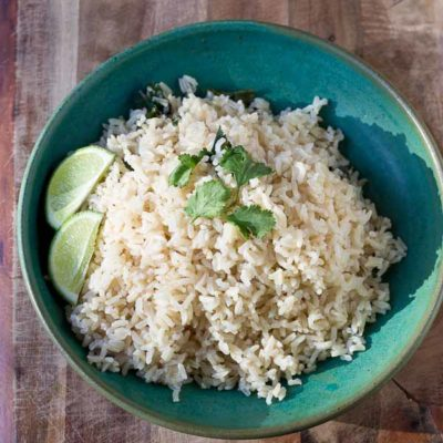 Cilantro Lime Brown Rice, Chipotle-style. OMG...This rice is the best!! I've made it 3 times in a week already!