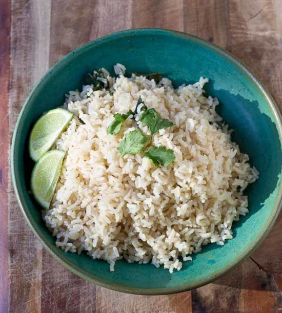 Cilantro Lime Brown Rice | love & zest