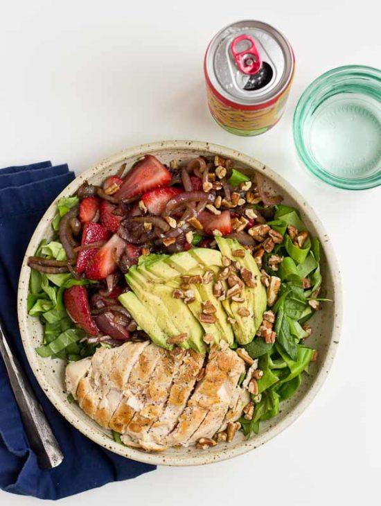 Strawberry Balsamic Grilled Chicken Salad   love & zest