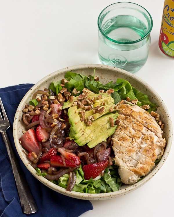 This Strawberry Balsamic Grilled Chicken Salad is light, crisp and ...
