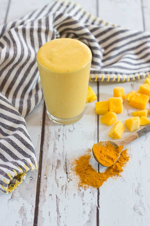 This Golden Milk Turmeric Smoothie makes you feel good from the inside out. With only 4 ingredients, it's easy to prepare this delightful smoothie. Turmeric, the superstar in this smoothie, is a bright yellow spice that acts as a powerful anti-inflammatory.