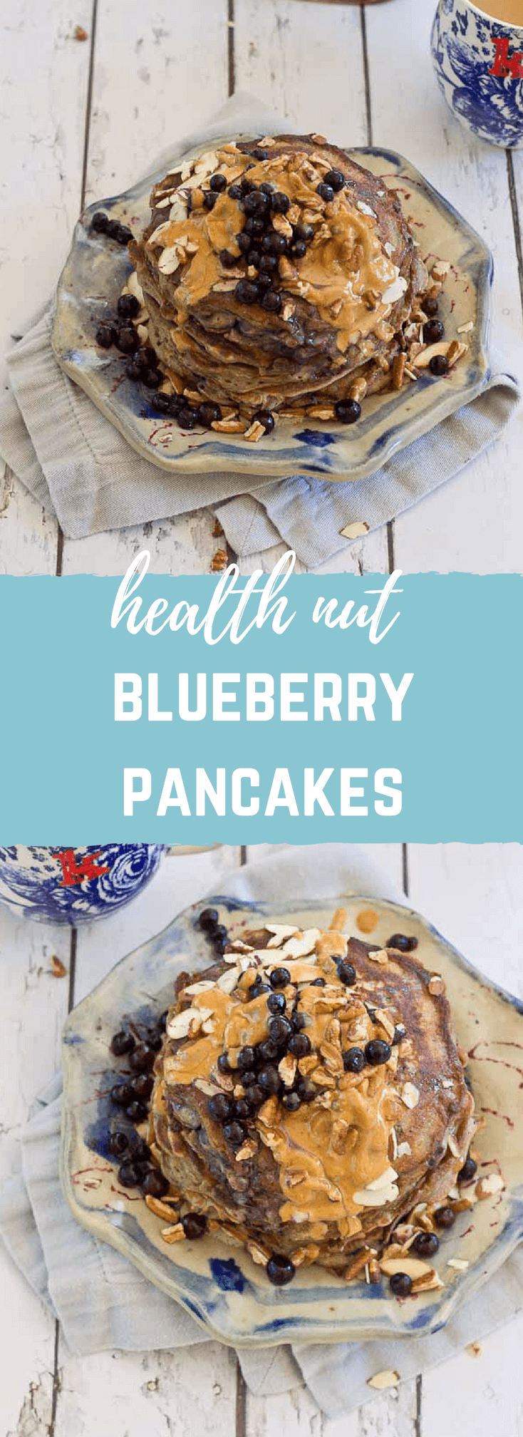 Health Nut Blueberry Pancakes | love & zest