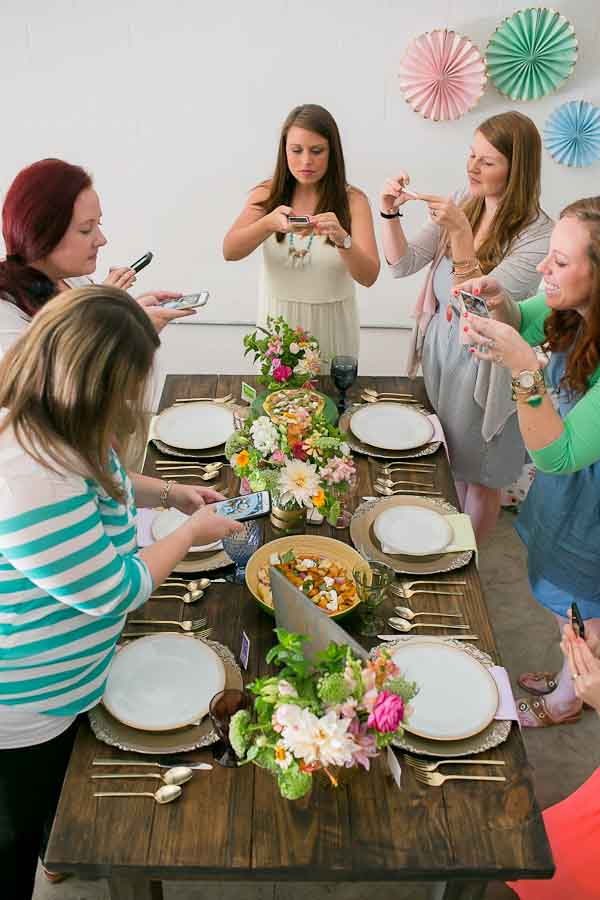 Get your closest girlfriends together for a summer floral party! Coffee and cake required.