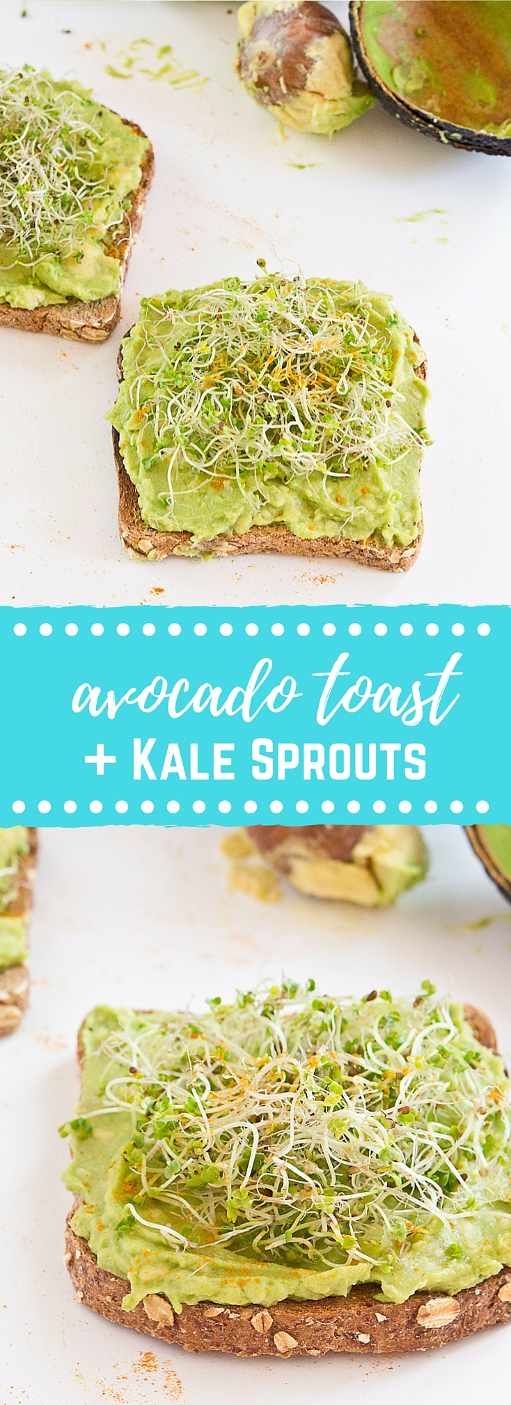 Start out your day with Avocado Toast with Kale Sprouts. This meal makes you feel good from the inside out! Serve with a big bowl of bitter greens to get even more veg into your diet.