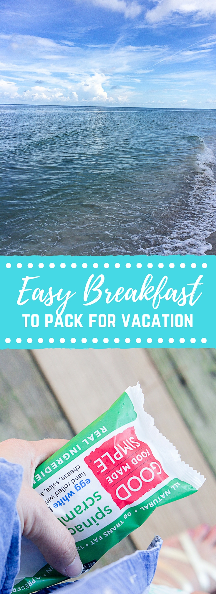 Are you headed to the beach or mountains this summer for a little getaway? As you're packing your bags don't forget to pack food to stock the fridge, freezer, and pantry before you arrive to your destination. Here's a short list of 4 easy breakfast ideas to pack for family vacations.