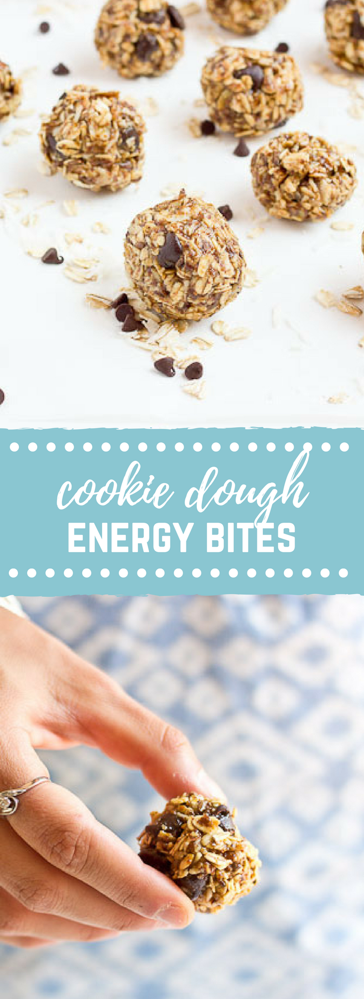 These Cookie Dough Energy Bites are exactly what you need right now!! They cure that sweet tooth and are less expensive than pre-made energy bars. Easy to make and gluten free.