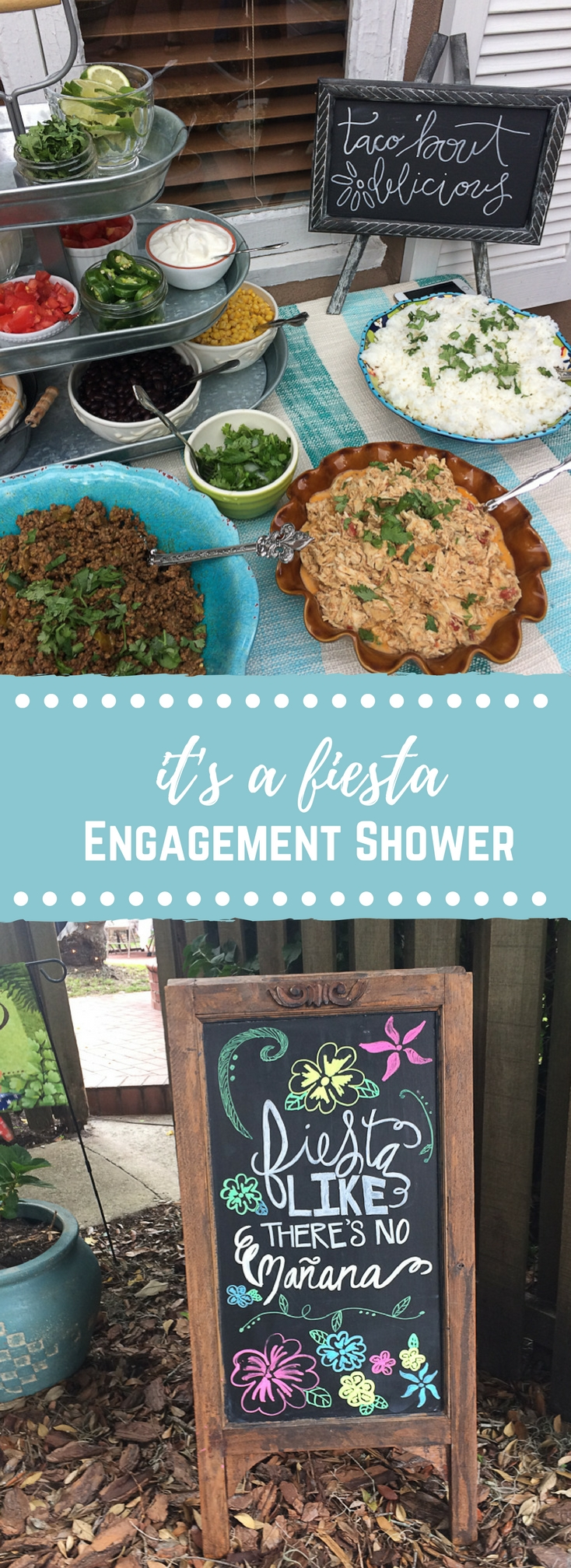 It's a fiesta... engagement shower! If you're throwing a couples shower this is a fun theme. Everyone loves chips, salsa, and sangria!