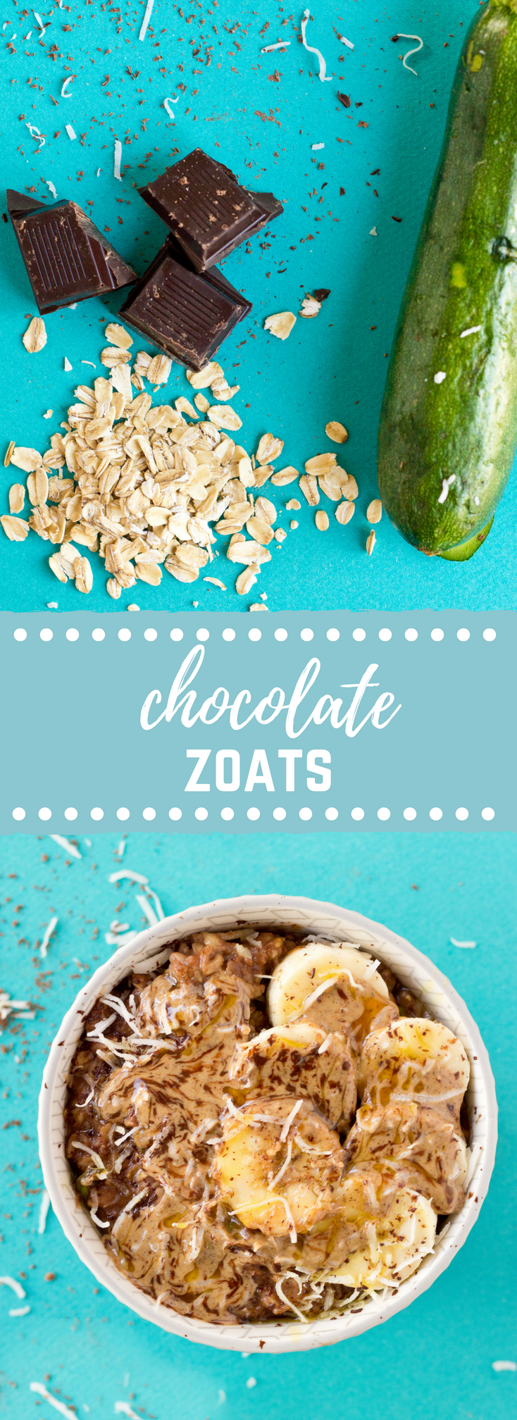 Chocolate Zoats aka Zucchini Oatmeal | Chocolate Oatmeal Recipe