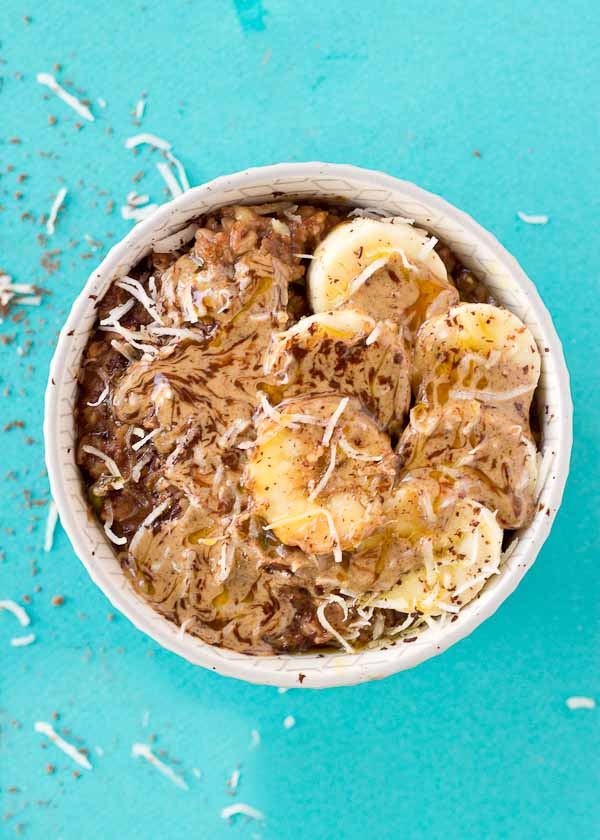 Have you tried Chocolate Zoats aka Zucchini Oatmeal yet? It's like zucchini bread in a bowl and a yummy way to eat up your veggies for breakfast!