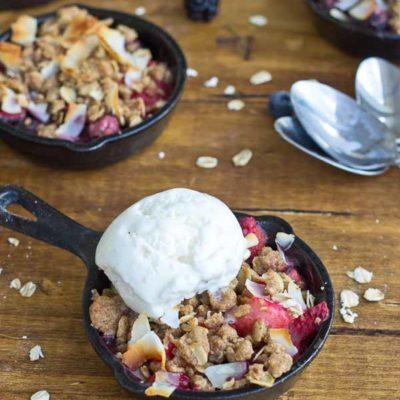 Skillet Mixed Berry Oatmeal Crisp