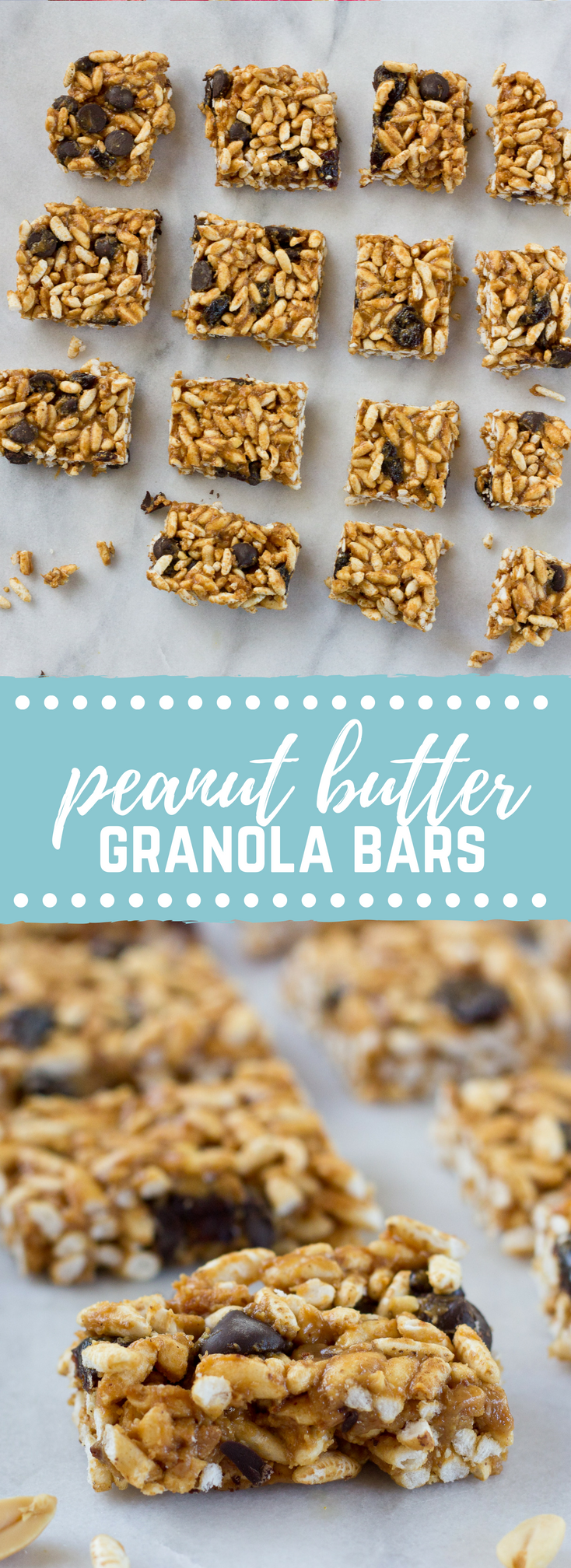 Crunchy Peanut Butter Chocolate Chip Bars | Love & Zest