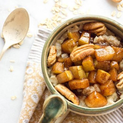 Caramelized Pear Oatmeal
