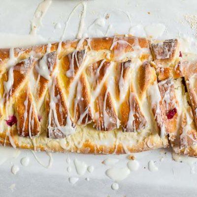Cranberry Cream Cheese Braid (+ VIDEO)