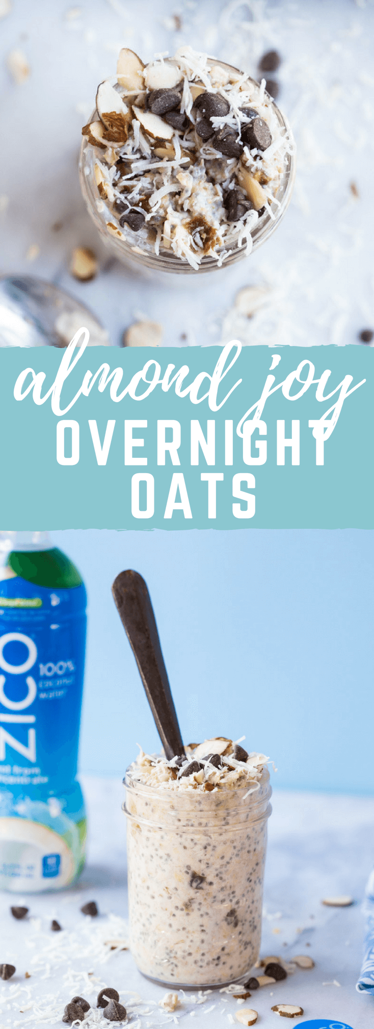 Almond Joy Overnight Oats | Love & Zest