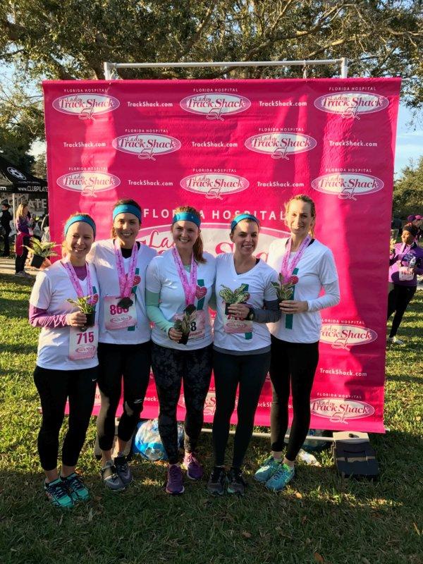 Lady Track Shack 5K Orlando Florida Cabot Fit Team 2017