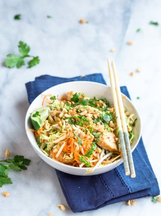 Oh you guys! These Low Carb Chicken Pad Thai Zoodles have so much flavor and are LOADED with veggies. I created this zucchini noodles recipe for those of us that love all the veggies.... but we still have those Chicken Pad Thai cravings!!!