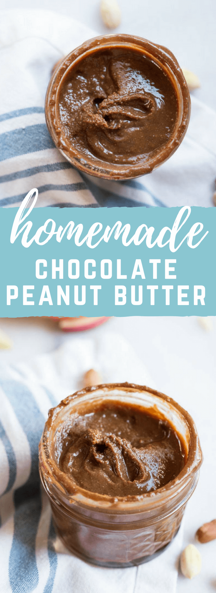 Homemade Chocolate Peanut Butter - how to make homemade nut butter