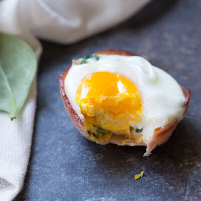 Ham Spinach Egg Cups