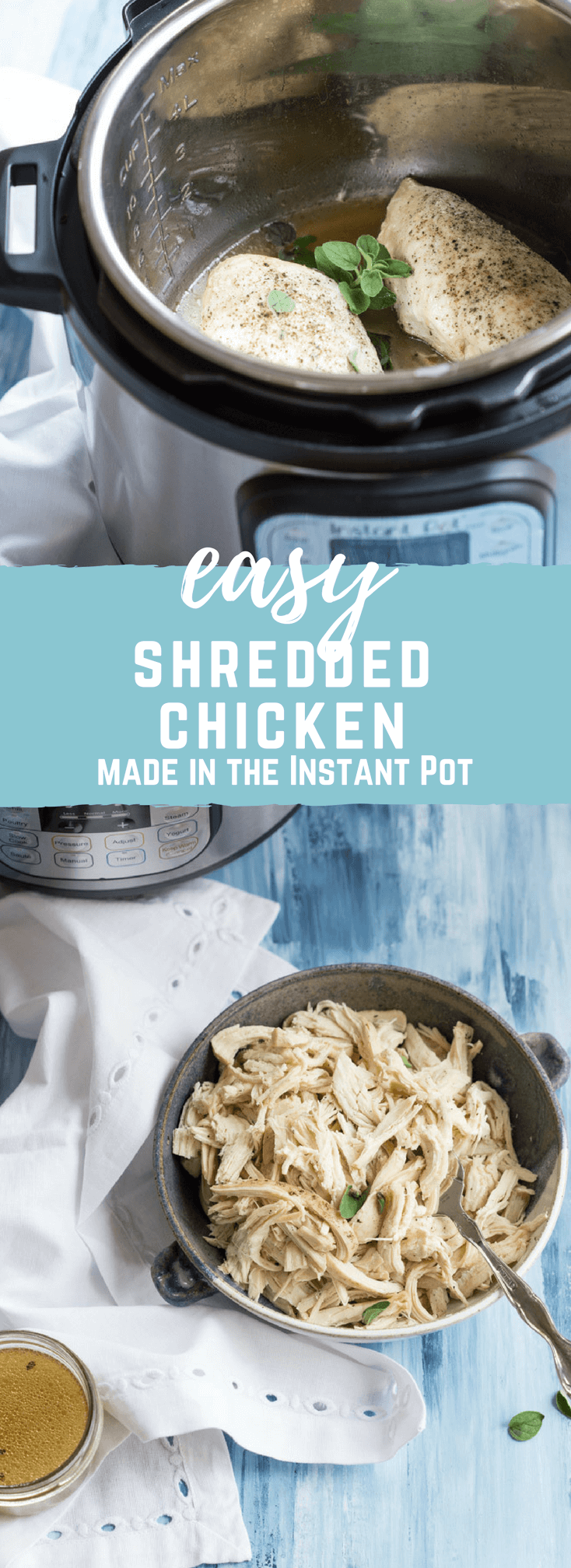 Instant Pot Easy Shredded Chicken How To Cook Chicken In The Instant Pot