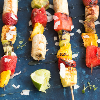 Honey Lime Grilled Fruit Skewers