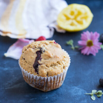 Lemon Berry Breakfast Muffins