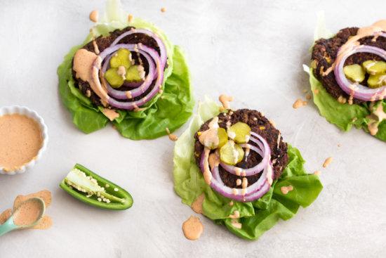 Jalapeño Black Bean Burgers | a grill-friendly vegetarian skillet ...