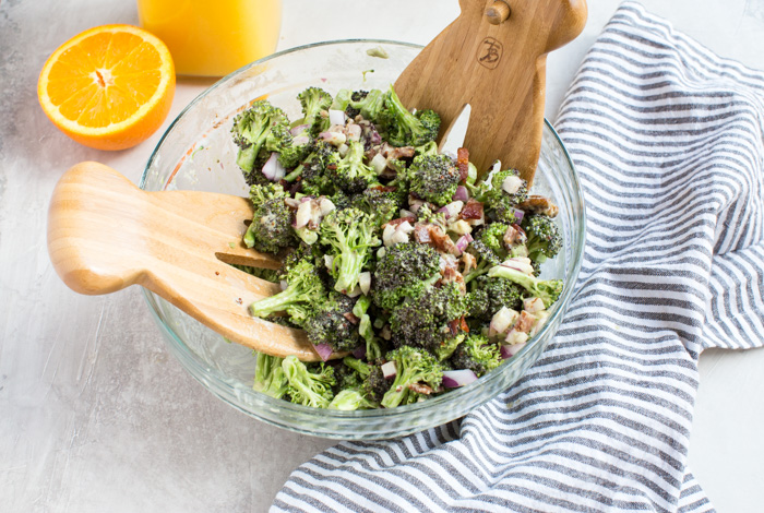 Traditional broccoli salad gets upgraded with creamy avocado and tangy citrusy dressing, you don't want to leave out this Broccoli Citrus Salad from your next cookout.