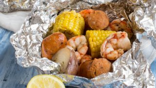 Low Country Boil Foil Packs Easy Grill Ready Weeknight Dinner Recipe