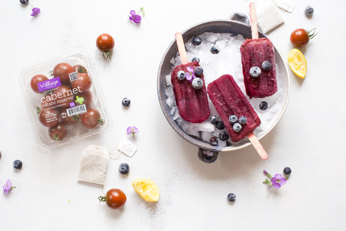 If you're looking for more YUMMY ways to sneak in a little extra veg into your (or the fam's) diet, look no further than making a batch (or all 4) of these savory fruit and veggie popsicles.