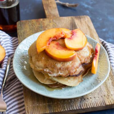 Gluten Free Peach Pancakes
