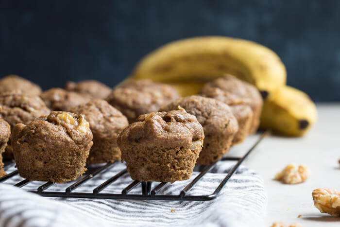 Healthy Banana Bread Muffins With Walnuts Low Sugar