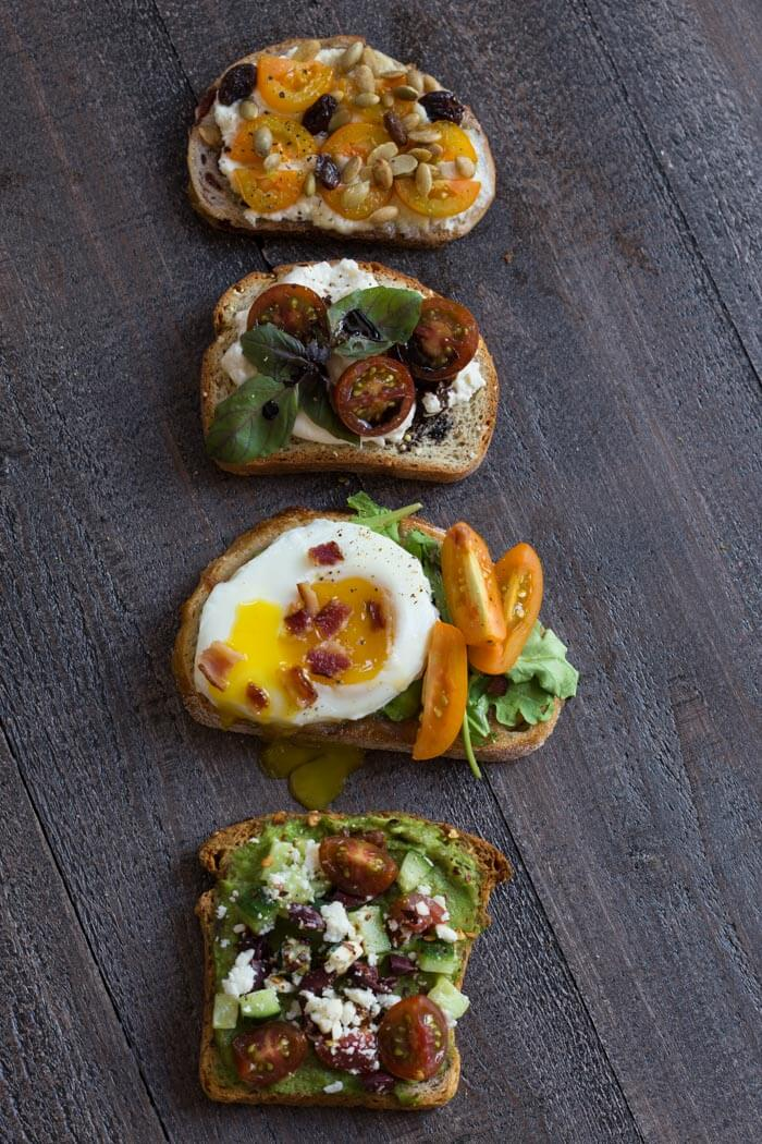 If you're looking for ways to add veggies to breakfast, try these 4 savory toast combos with tomatoes.
