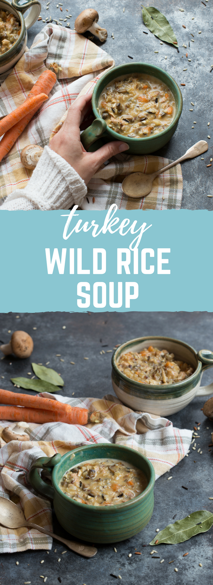 Turkey Wild Rice Soup is sure to hit every feel-good bone in your body! The flavors are rich and earthy, and the rice just gives it that full-bodied, hearty texture that is sure to fill your tummy up with comfort and warmth.