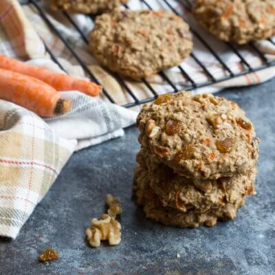 Carrot Cake Oatmeal Breakfast Cookies