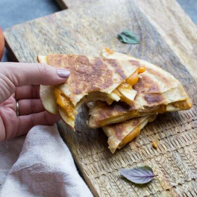 Creamy Pumpkin Apple Quesadillas