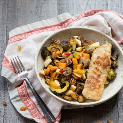 Harvest Vegetable Medley with Skillet Crisp Tilapia