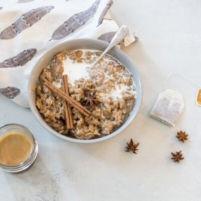Dirty Chai Latte Oatmeal