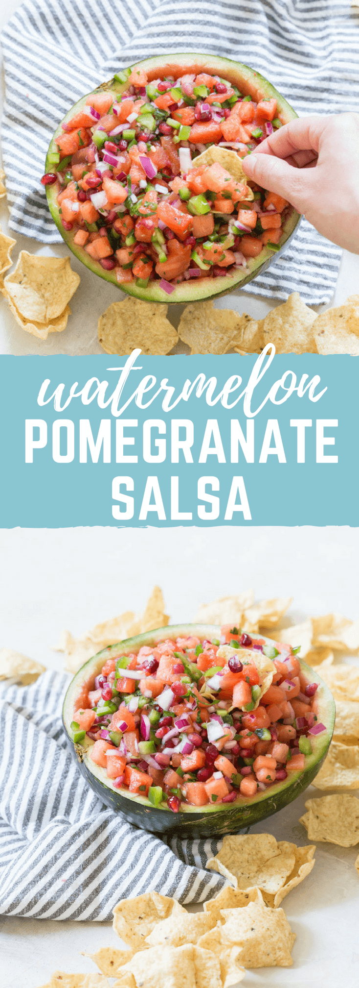 If you want to know how to eat watermelon, THIS IS IT >>> Watermelon Pomegranate Salsa. And I cannot get over the presentation of serving this salsa straight in the watermelon rind! Now that's how to do salsa for a party this holiday season.