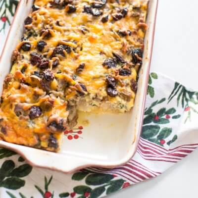 Christmas Breakfast Strata