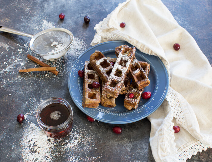 If the name of these pillowy, seasonal breakfast treats does not want to make you jump for joy, then I don't know what will! Gingerbread Waffle French Toast Sticks