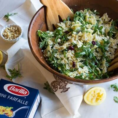 Lemon Arugula Pasta Salad. This is what it looks like to live your best springy pasta life.