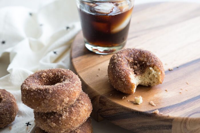 Gluten Free Cinnamon Sugar Cake Donuts... the best homemade gluten free donut you'll ever eat.