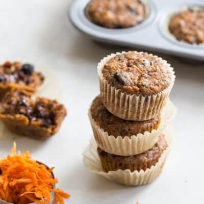 Carrot Berry Quinoa Muffins