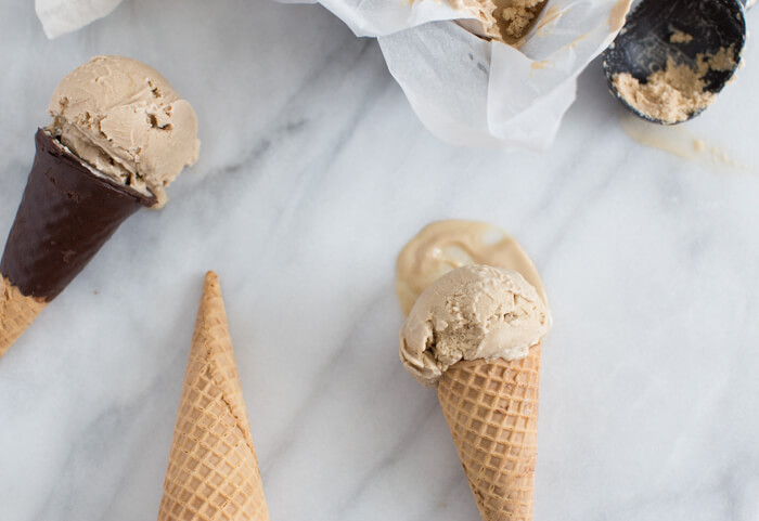 vegan and dairy free coffee cashew ice cream